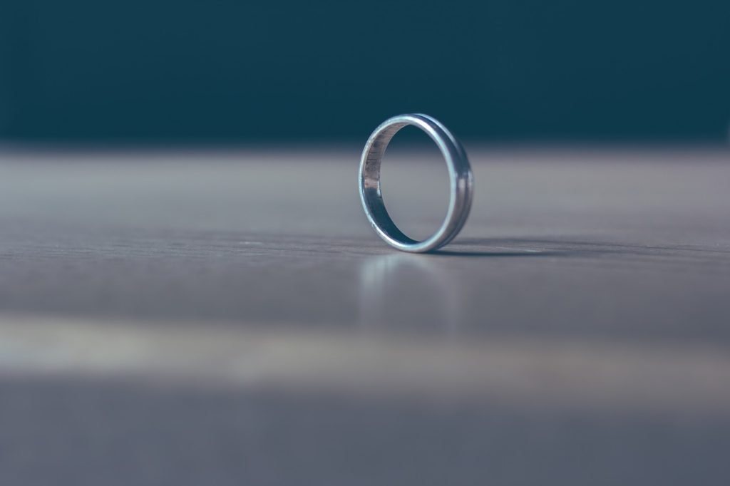 image of a ring on a table