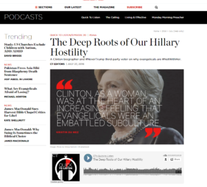 image of Hillary Clinton and Kristin Du Mez quote