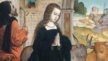 image of flemish nativity scene