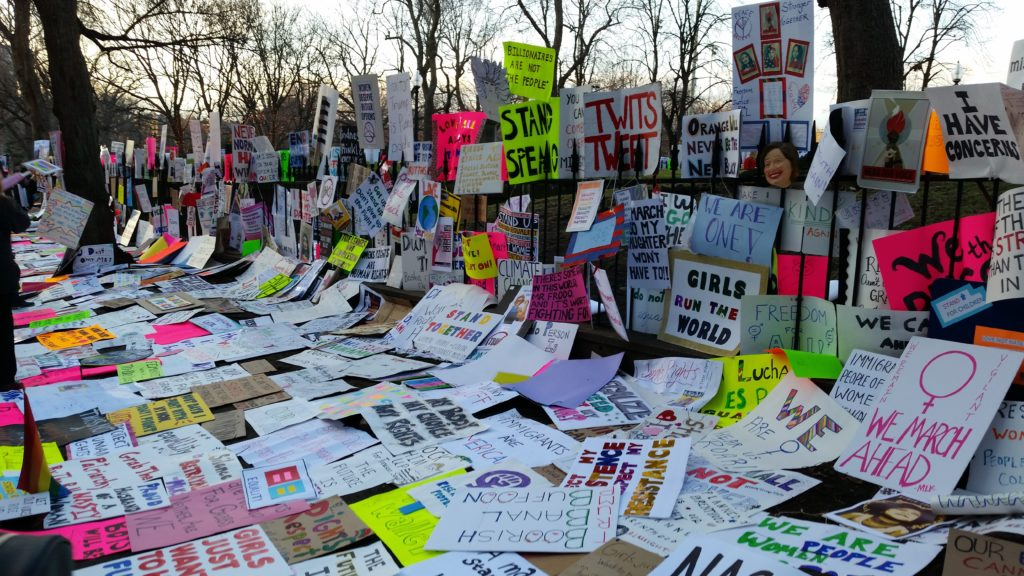 image of protest signs