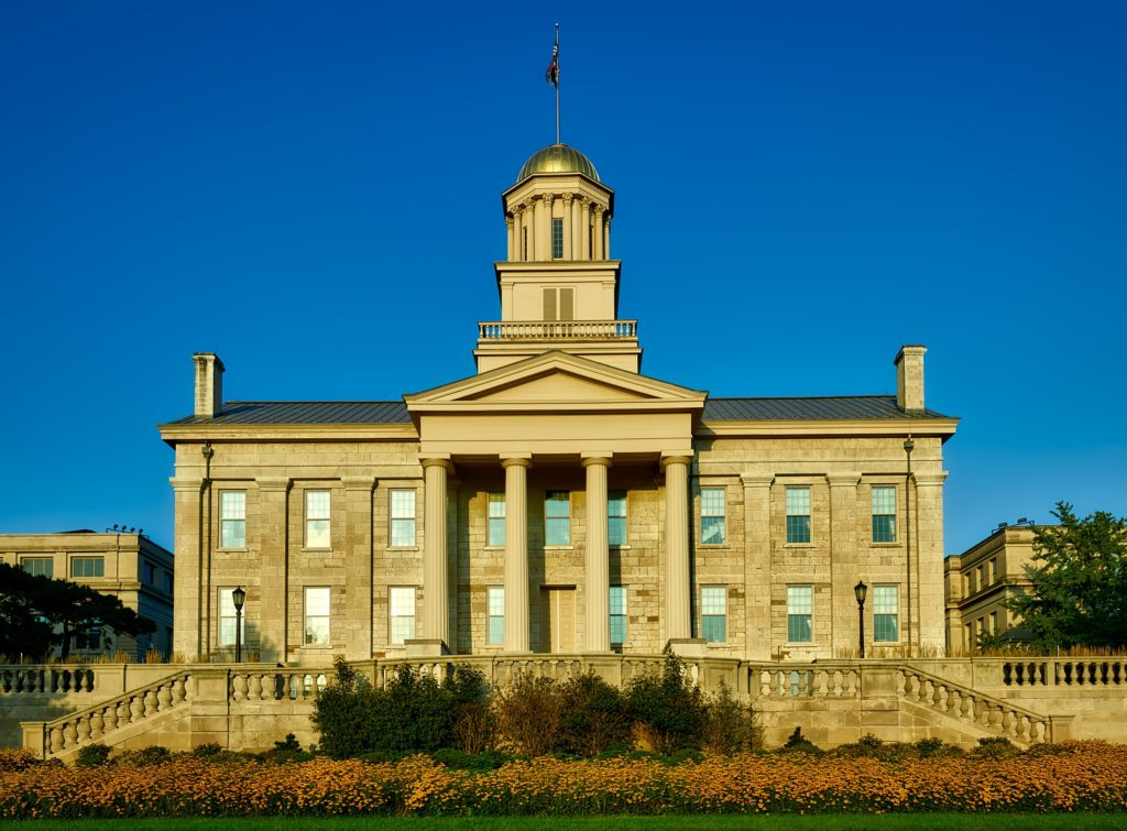 Image of old stone capitol in Iowa City