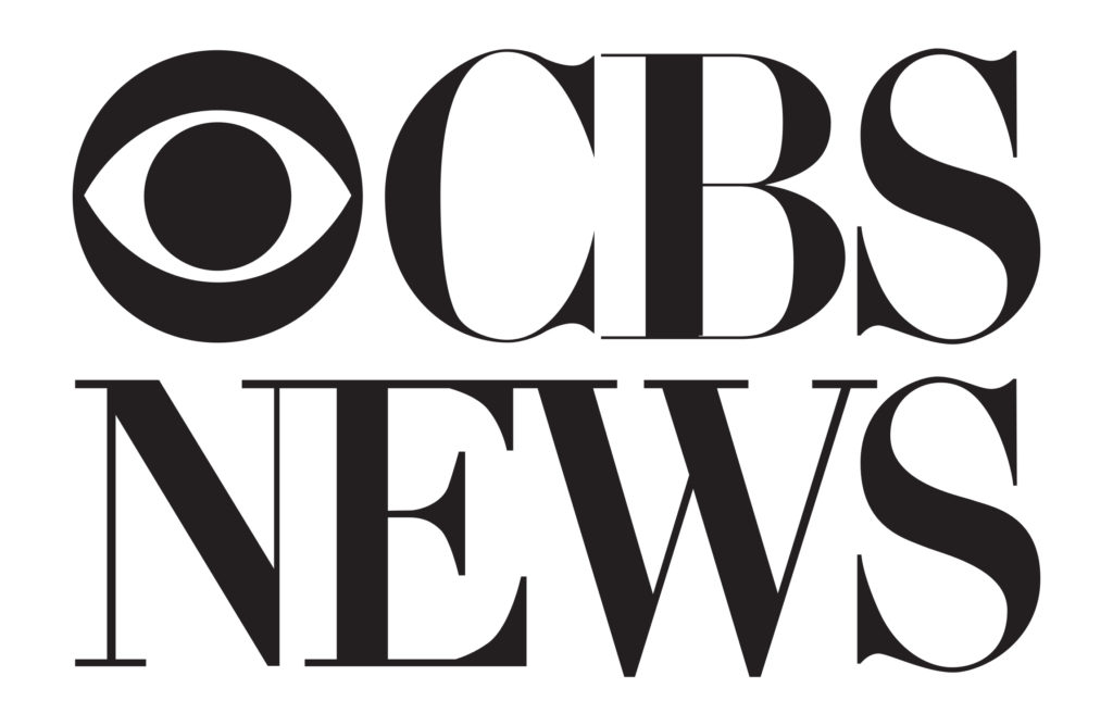 logo for cbs news. black text on white background