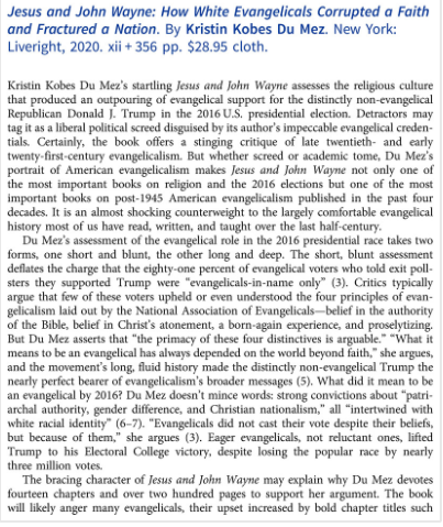 first page of review by jon butler in church history.