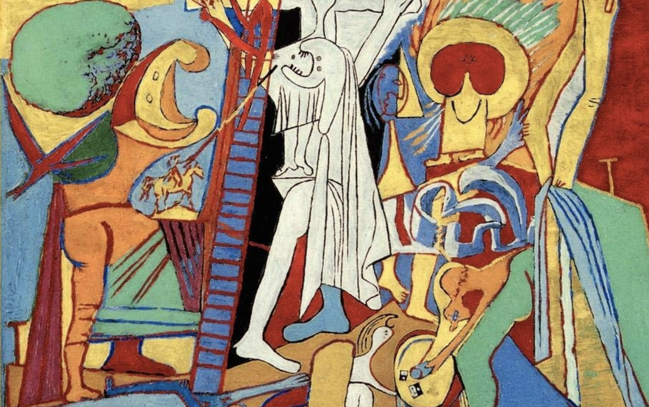 "abstract painting from the cover of ""The Disabled God"""