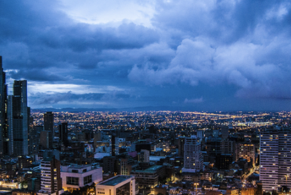 photograph of Bogota's skyline at night
