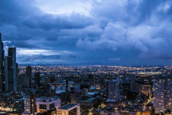 photograph of Bogota's skyline at night