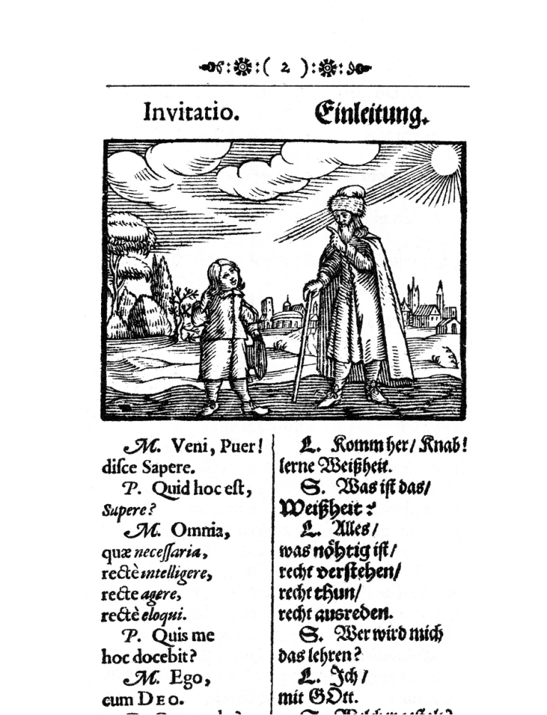 First page of Orbis Sensualim Pictus